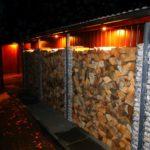 gabiony-progress-zabudowa-garazu-noc